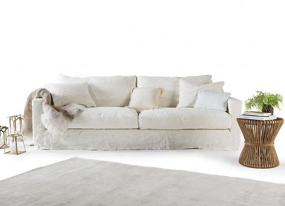 Canapé en lin 3 places écru