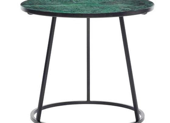 Table d'appoint en marbre vert et noir