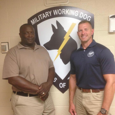 Military Working Dogs James Hamm and John McKenny