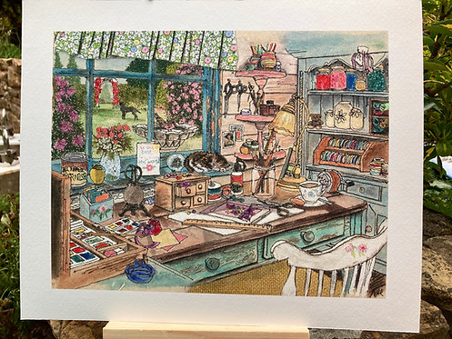 'The Crafting Shed' Giclée Print