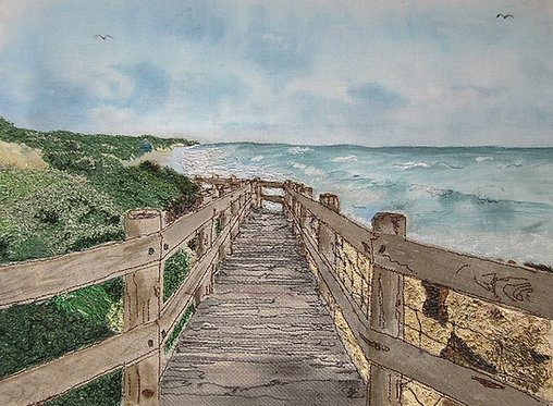 'Boardwalk To The Sea' - SOLD