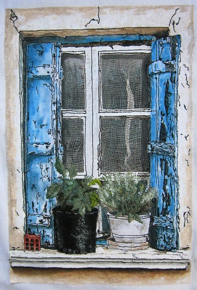 'Greek Village House Window'