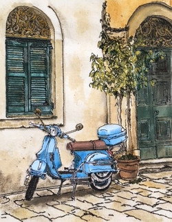 'Old Town Vintage Vespa'