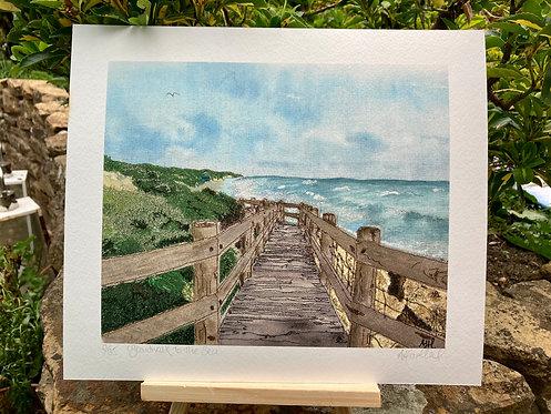 'Boardwalk To The Sea' Giclée Print