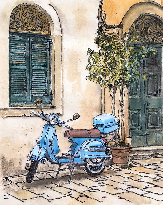 'Old Town Vintage Vespa' - SOLD