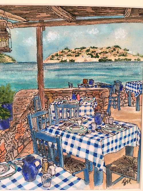 'Blue Door Taverna' - SOLD
