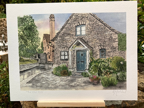 'The Old Mill' Giclée Print