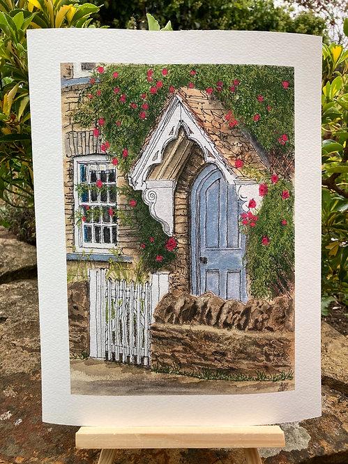 'Rose Hill Cottage Giclée Print