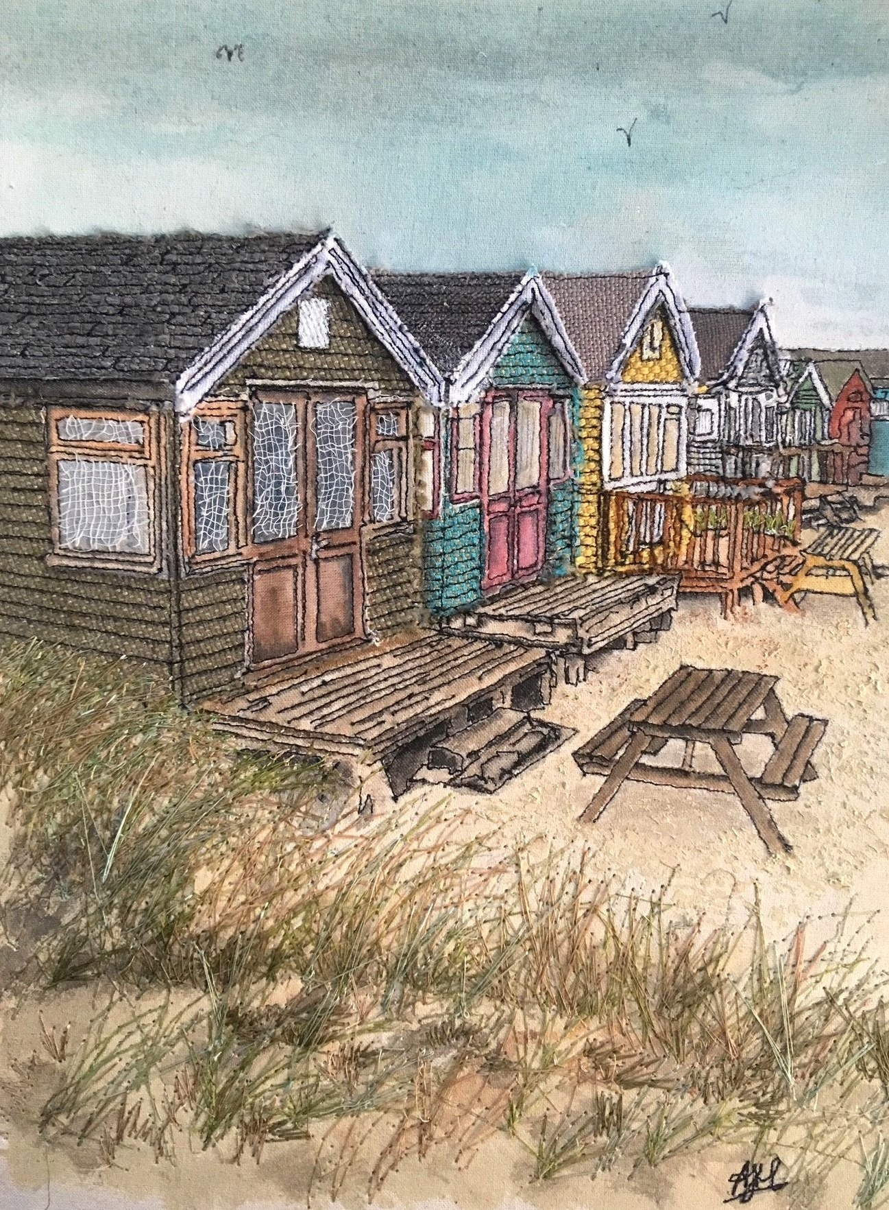 'Mudeford Beach Huts'