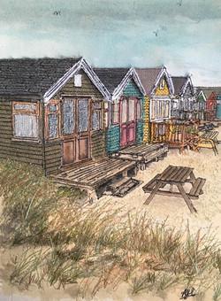 'Mudeford Beach Huts'