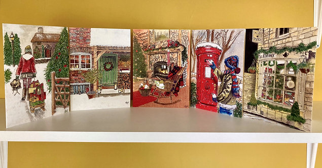 Christmas Card Selection -Set of 5 - Collection 4