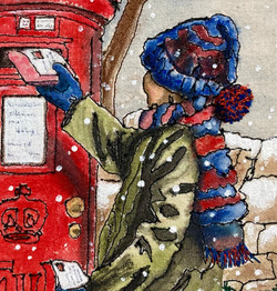 'The Christmas Card' close up