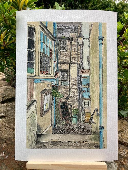 'Quay Hill, Tenby, UK' Giclée Print