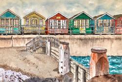 'Beach Huts, Southwold'