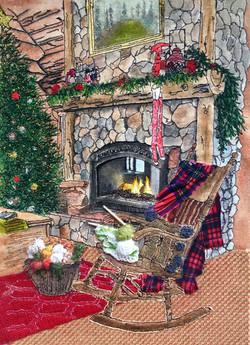 'Christmas Log Cabin'