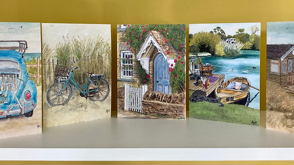Greetings Card selection - Pack of 5 - Collection 1