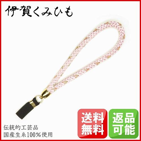 杖ストラップ 源氏織 (薄桜色)