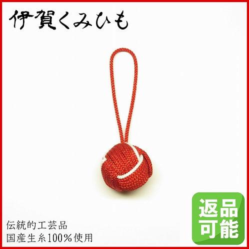 バッグチャーム キーホルダー 特大小田巻(赤・白色)