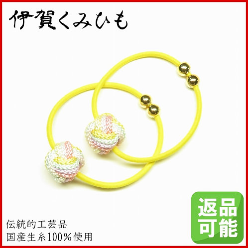 髪飾り 2個セット(黄檗色)