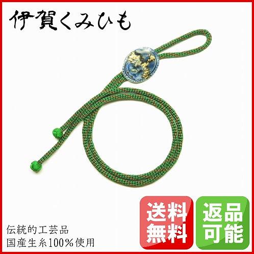 ループタイ 金剛織 伊賀焼 (緑・茶)