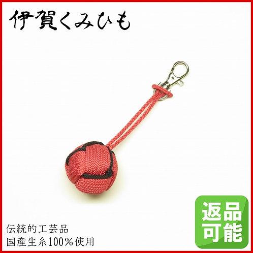 特大小田巻キーホルダー金具付き(桃・黒色)