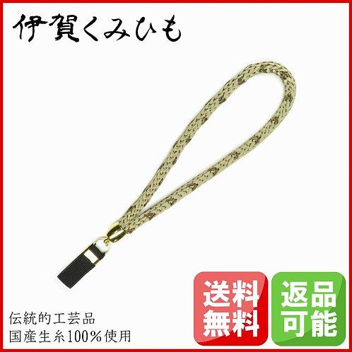 杖ストラップ 源氏織 (練色・ねりいろ)