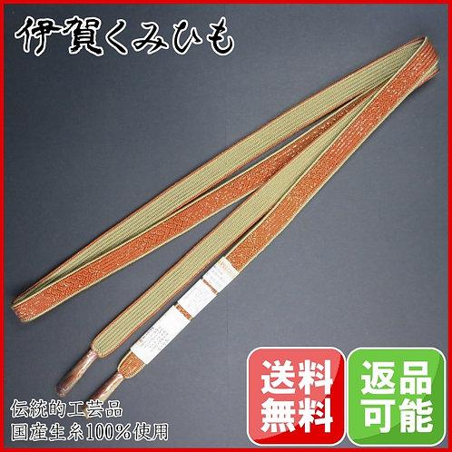 最高級 本金使用 手編み帯締め(茶)