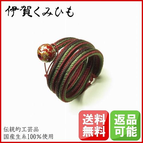 ブレスレット銀飾り スーパーロング(葡萄・焦茶・緑)