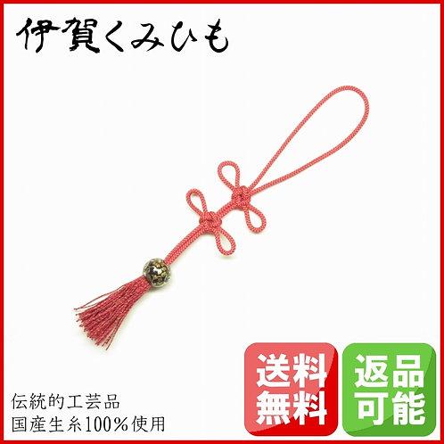 バッグチャーム あげまき結び (赤色)