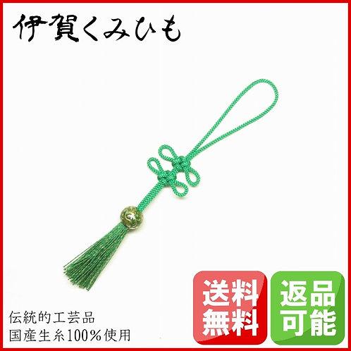 バッグチャーム あげまき結び (緑色)