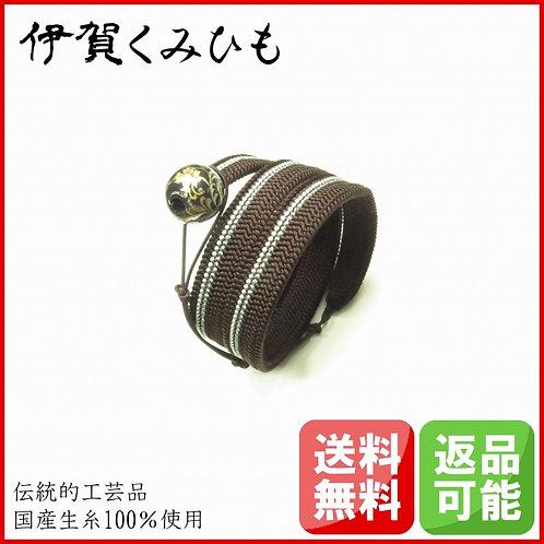 ブレスレット銀飾り スーパーロング(黒茶)