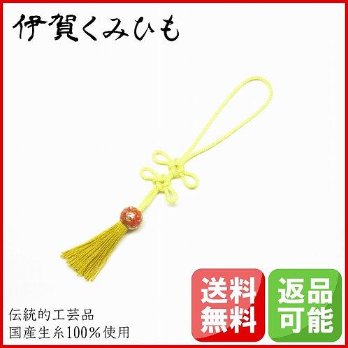 バッグチャーム あげまき結び (黄色)
