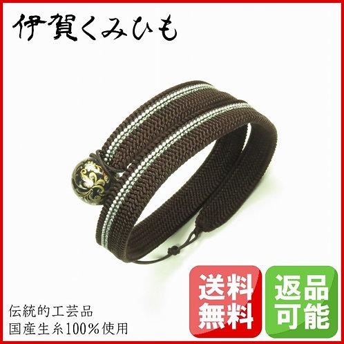 ブレスレット銀飾り ロング(黒茶)