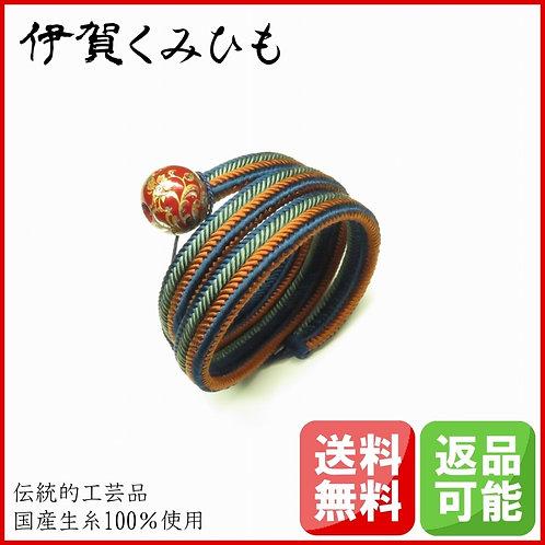 ブレスレット銀飾り スーパーロング(紺・茶・緑)