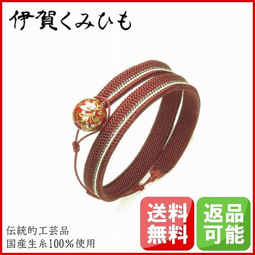 ブレスレット銀飾り ロング(赤)