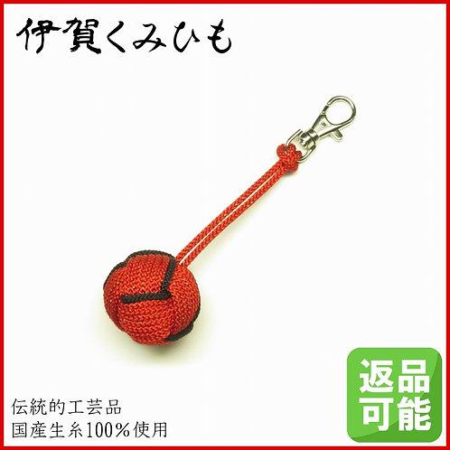 バッグチャーム キーホルダー 特大小田巻金具付き(赤色)