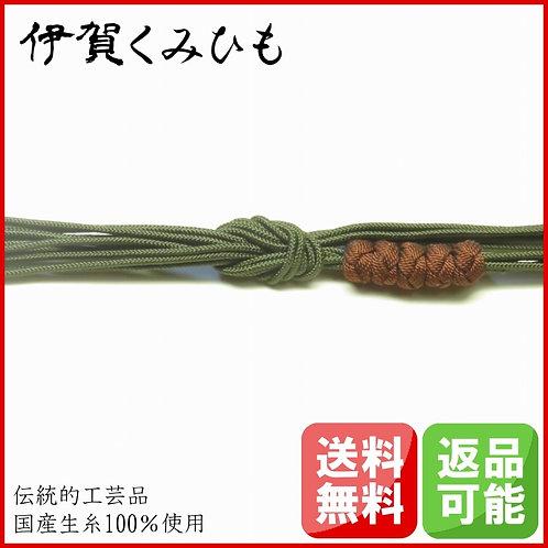 帯締め 小田巻(緑色)