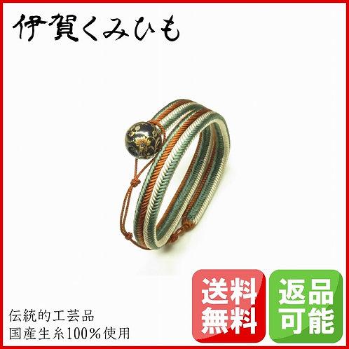 ブレスレット銀飾り ロング(緑・茶・白)