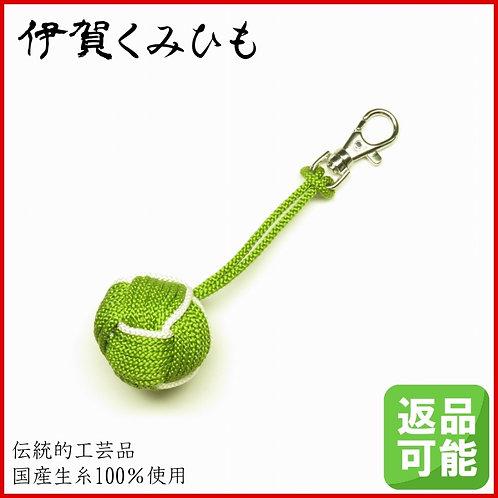 バッグチャーム キーホルダー 特大小田巻金具付き(緑色)