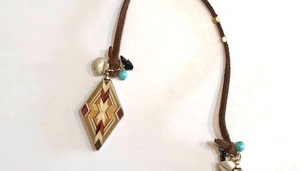 Yosegi Rhomboid Necklace