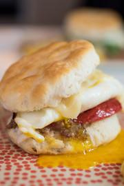 Egg & Bacon Jam Sandwich