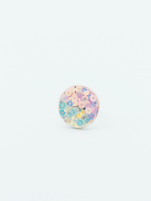 Shades of Pink Sequins Ring