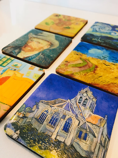 Van Gogh Inspired Coasters