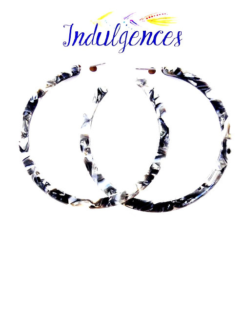 Large 2 Color Mixed Hoops