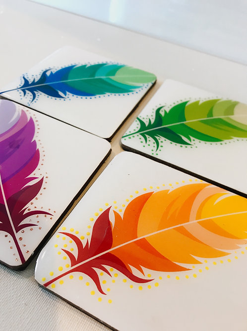 Feather Inspired Coasters