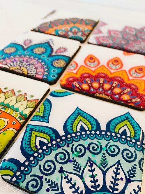 Mandala Sections Coasters