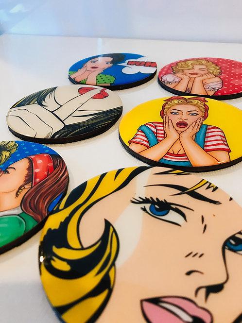 Pop Art Inspired Coasters