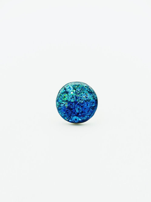 Shades of Blue Sequins Ring