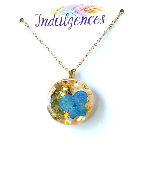 Blue Flower in glitter NKBG