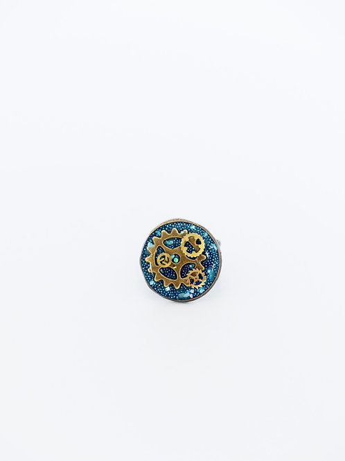 Gears in Turquoise Ring
